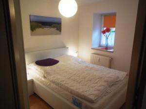Schlafzimmer mit franz. Doppelbett 140 cm